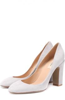 Замшевые туфли Tan-Go на устойчивом каблуке Valentino