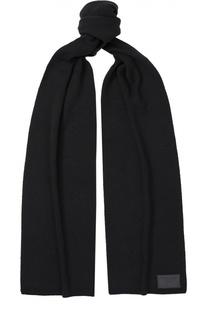 Шерстяной шарф с нашивкой Dsquared2