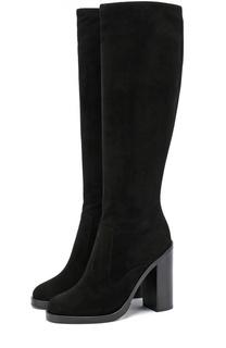 Замшевые сапоги Lawrence на устойчивом каблуке Dolce & Gabbana