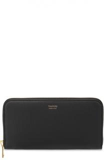 Кожаное портмоне на молнии с отделением для кредитный карт Tom Ford