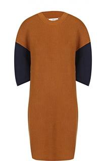 Вязаное мини-платье прямого кроя с коротким рукавом Maison Margiela