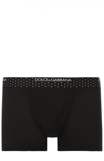 Боксеры из смеси вискозы и шелка с широкой резинкой Dolce & Gabbana