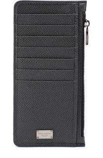 Кожаный футляр для кредитных карт с отделением для монет Dolce & Gabbana