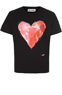 Хлопковая футболка с контрастным принтом One-T-Shirt
