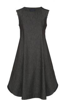Джинсовое платье свободного кроя без рукавов Yohji Yamamoto
