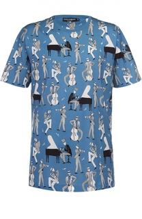 Хлопковая футболка с принтом Dolce & Gabbana