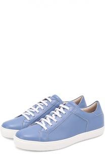 Кожаные кеды на шнуровке Giorgio Armani