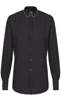 Рубашка из смеси хлопка и шелка с принтом Dolce & Gabbana