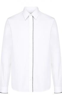 Хлопковая рубашка с контрастной отделкой Maison Margiela