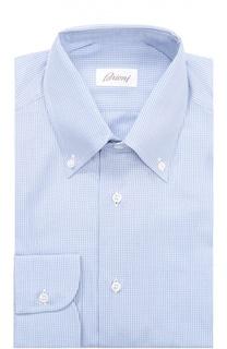 Хлопковая сорочка с воротником button down Brioni