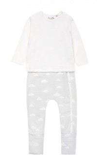 Пижама из хлопка с принтом Sanetta Fiftyseven