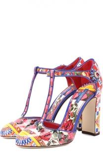 Туфли Vally с принтом на устойчивом каблуке Dolce & Gabbana