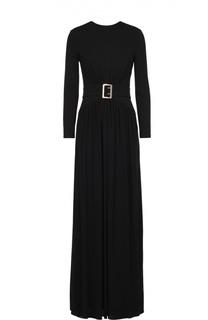 Приталенное платье-макси с поясом Burberry