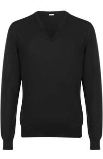 Шерстяной пуловер с V-образным вырезом malo