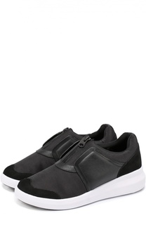 Комбинированные кроссовки на молнии DKNY
