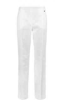 Льняные брюки прямого кроя со стрелками Escada Sport
