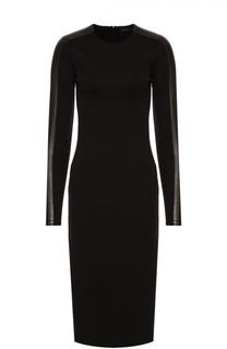 Платье-миди с длинным рукавом и декоративной отделкой Polo Ralph Lauren