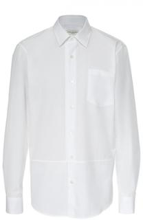 Хлопковая рубашка с воротником кент Dries Van Noten