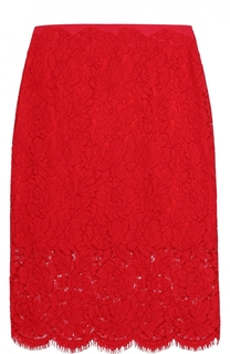Кружевная юбка-карандаш с завышенной талией Diane Von Furstenberg