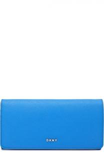 Кожаное портмоне с клапаном DKNY
