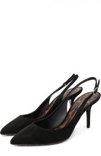 Замшевые туфли Bellucci с ремешком Dolce & Gabbana