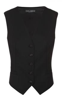Приталенный укороченный жилет без рукавов Dolce & Gabbana