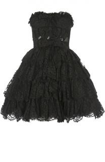 Кружевное платье-бюстье с пышной юбкой Dolce & Gabbana