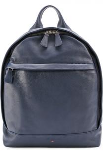 Кожаный рюкзак с внешним карманом на молнии Santoni