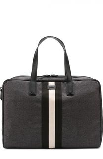 Дорожная сумка с отделкой из натуральной кожи Bally