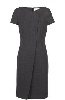 Приталенное платье с коротким рукавом и декоративной отделкой BOSS