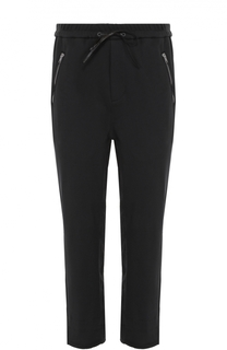Хлопковые брюки прямого кроя с заниженной линией шага и необработанным краем 3.1 Phillip Lim