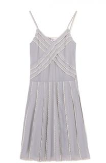 Платье-комбинация с контрастной отделкой REDVALENTINO
