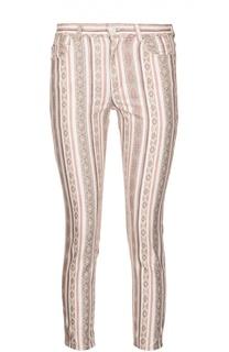 Укороченные джинсы-скинни с ярким принтом Isabel Marant Etoile