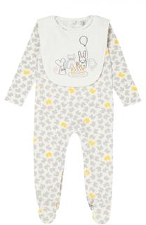Комплект из пижамы и нагрудника с принтом Stella McCartney