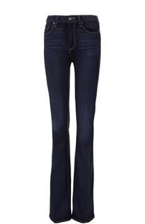 Расклешенные джинсы с контрастной прострочкой Paige