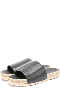 Кожаные шлепанцы на джутовой подошве Balenciaga