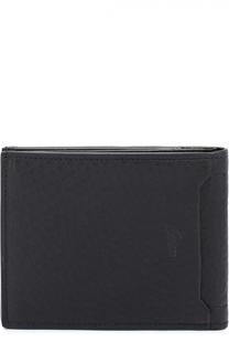 Комплект из кожаного портмоне и футляра для кредитных карт Brioni