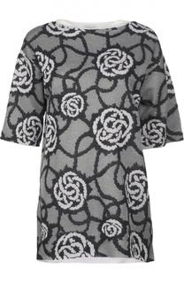 Удлиненный пуловер с цветочным принтом Dries Van Noten