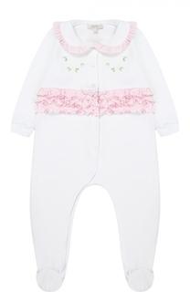 Пижама из хлопка с оборками Aletta