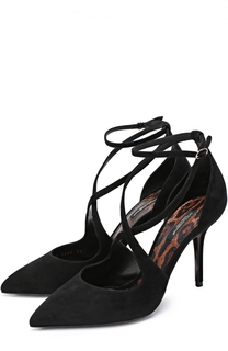 Замшевые туфли с ремешками Dolce & Gabbana