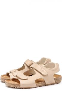 Кожаные сандалии с застежками велькро Il Gufo