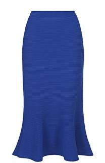 Расклешенная юбка-миди фактурной вязки Giorgio Armani