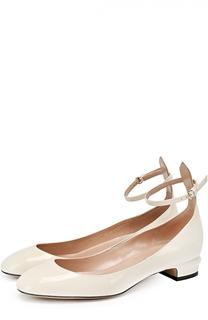 Лаковые туфли Tan-Go на низком каблуке Valentino