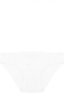 Трусы-слипы с кружевной отделкой и бантом La Perla