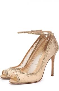 Туфли со стразами на шпильке Gianvito Rossi