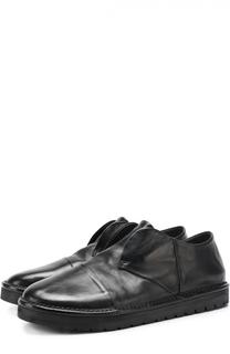 Кожаные дерби без шнуровки с круглым мысом Marsell