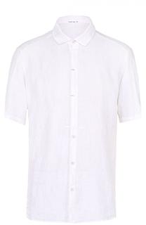 Льняная рубашка с короткими рукавами и воротником кент Transit