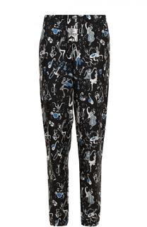 Шелковые домашние брюки с принтом Dolce & Gabbana