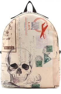 Текстильный рюкзак с принтом Alexander McQueen
