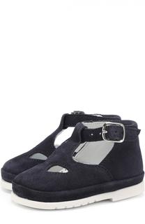 Замшевые сандалии с ремешками Gallucci